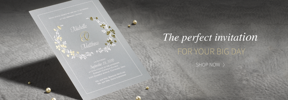Home Wedding Invitations Hero